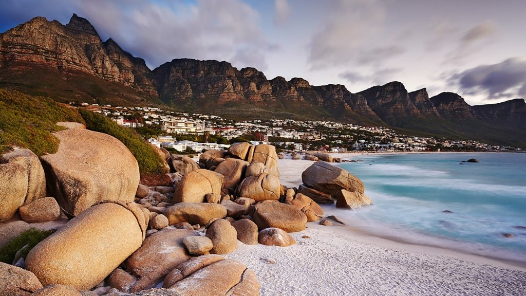 Twelve Apostles view, Camps Bay and Table Mountain, Cape Town, Western Cape, South Africa