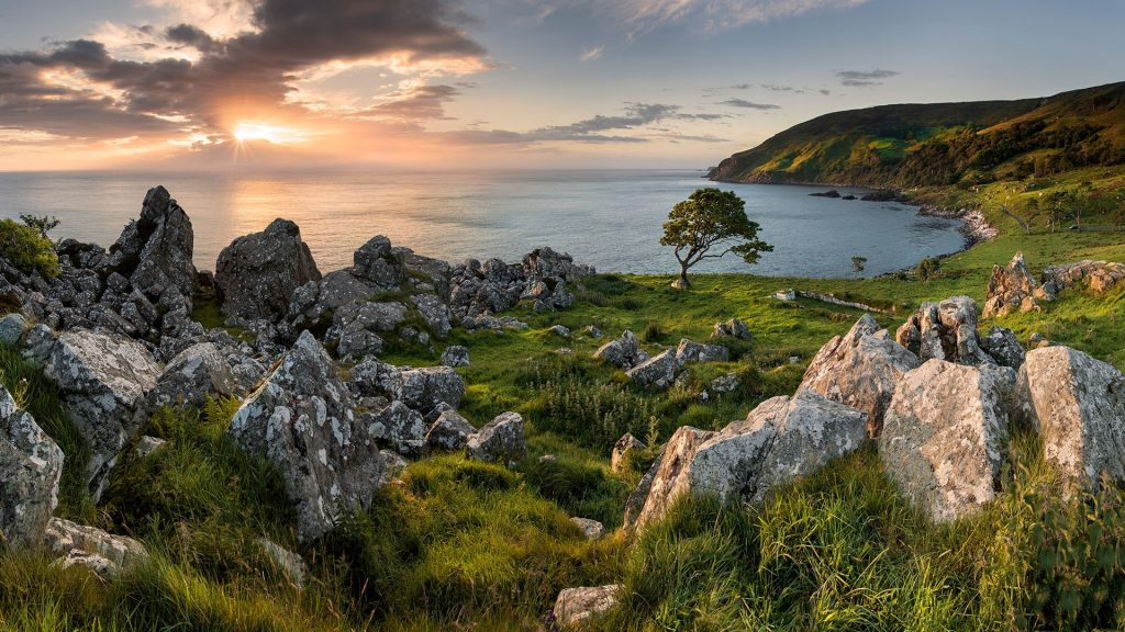Sunrize at Murlough Bay near Ballycastle on the North Antrim Coast, Northern Ireland