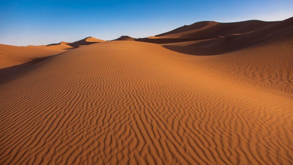 Landscape of Erg Chigaga, Sahara desert, Morocco