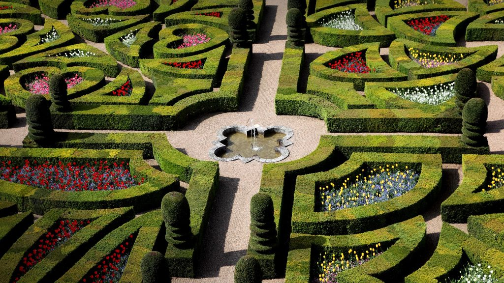 Château de Villandry Garden, the Loire Valley, Indre-et-Loire, France
