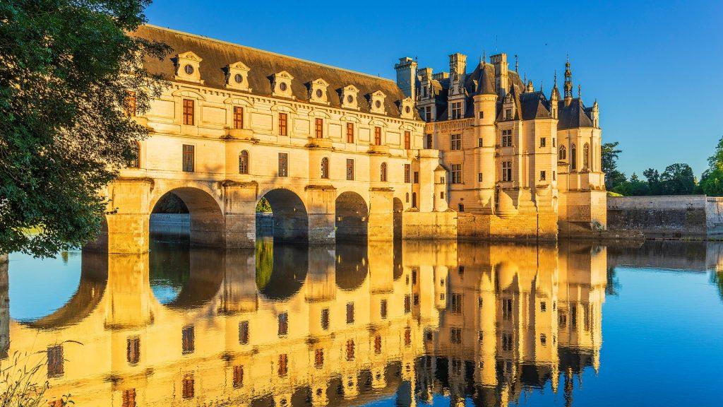 Château de Chenonceau on river Cher, Loire Valley castle near Chenonceaux Village, France
