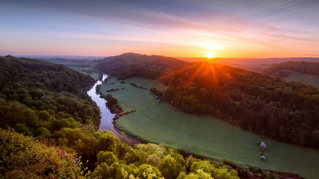Sunrise, River Wye, Symonds Yat, Gloucestershire, England, UK