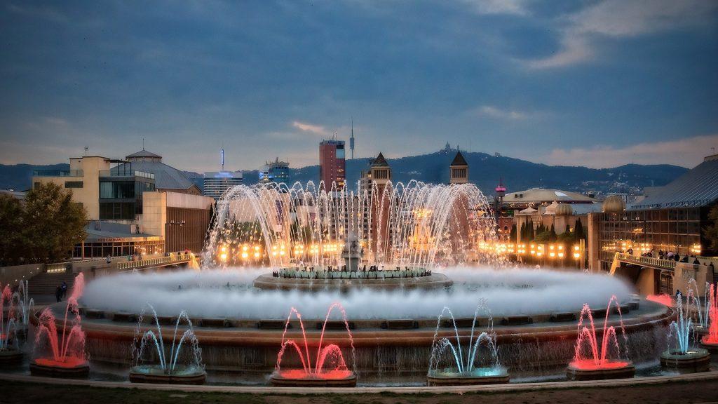 Magic Fountain of Montjuïc, Barcelona, Catalonia, Spain