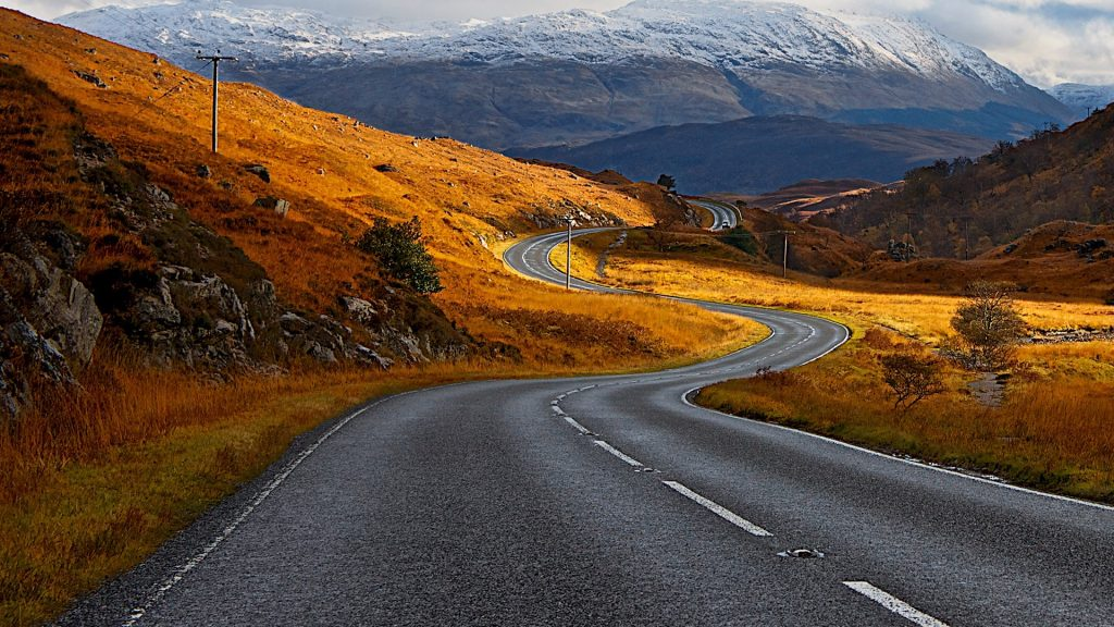 The road home from Ardnamurchan towards Ardgour and Corran Ferry back to Glencoe, Scotland, UK
