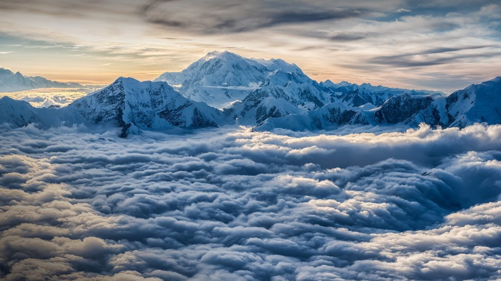 Mount Logan view, Saint Elias mountains in Kluane National Park and Reserve, Yukon, Canada