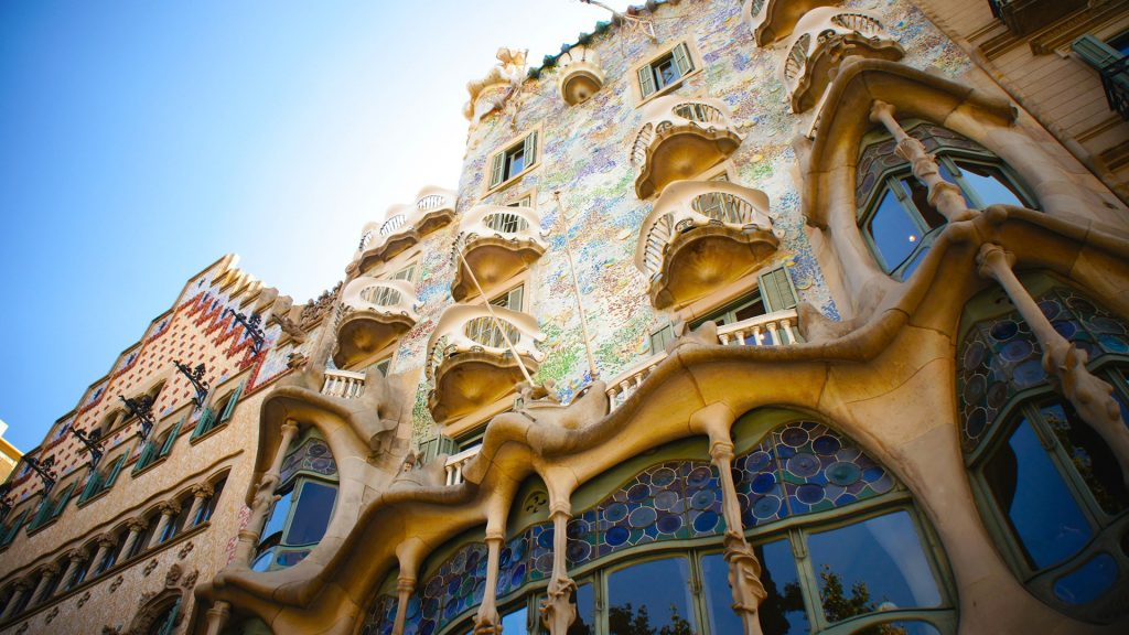 Casa Batlló building designed by Antoni Gaudí, Barcelona, Catalonia, Spain