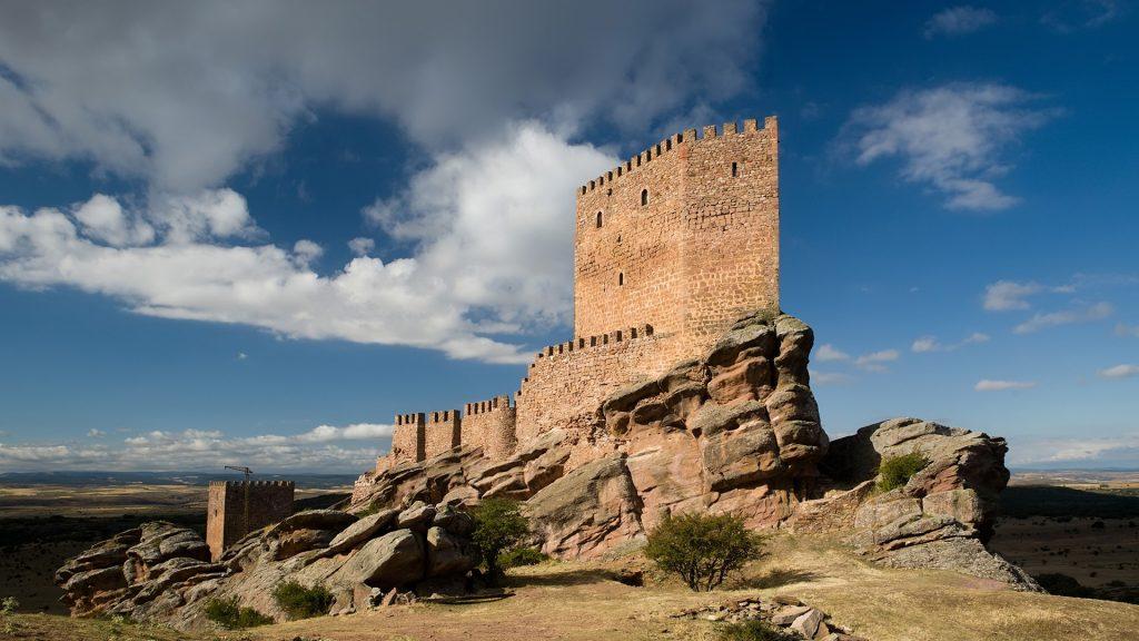 Castle of Zafra (Castillo de Zafra) fortress, Guadalajara, Campillo de Dueñas, Spain