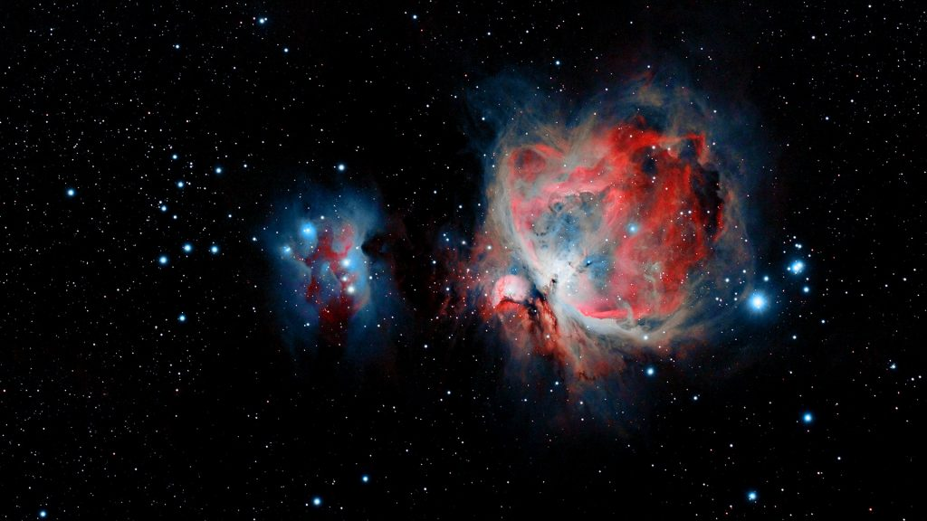 The Great Orion Nebula M42 with the Running Man Nebula