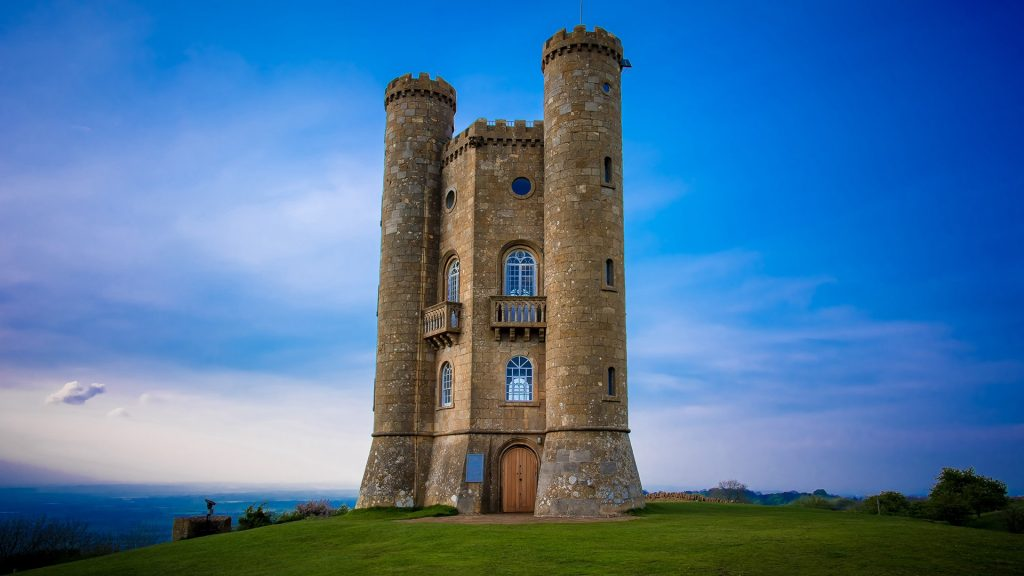 The Broadway Tower on Broadway Hill, Worcestershire, England, UK