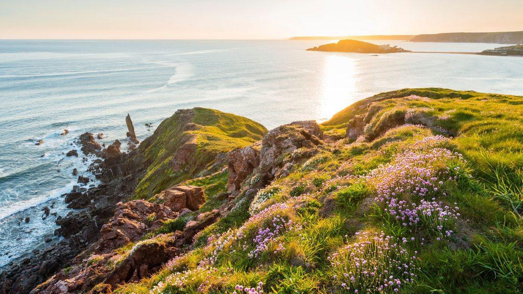 Burgh Island from Bantham, Bigbury-on-Sea, Devon, England, UK