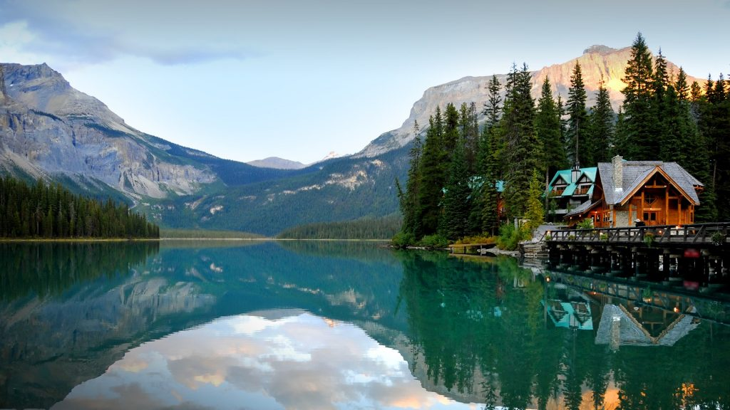 Emerald lake with lodge, Yoho National Park, British Columbia, Canada