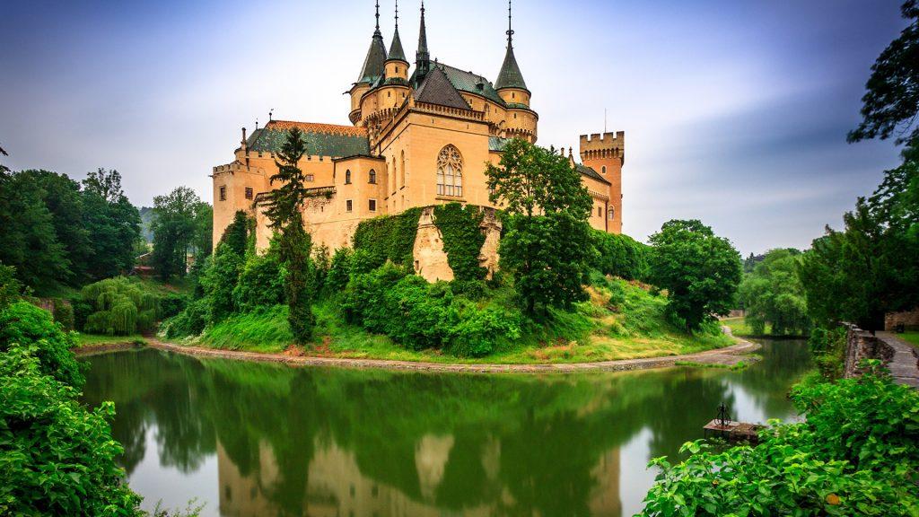 Medieval Bojnice castle in Slovakia