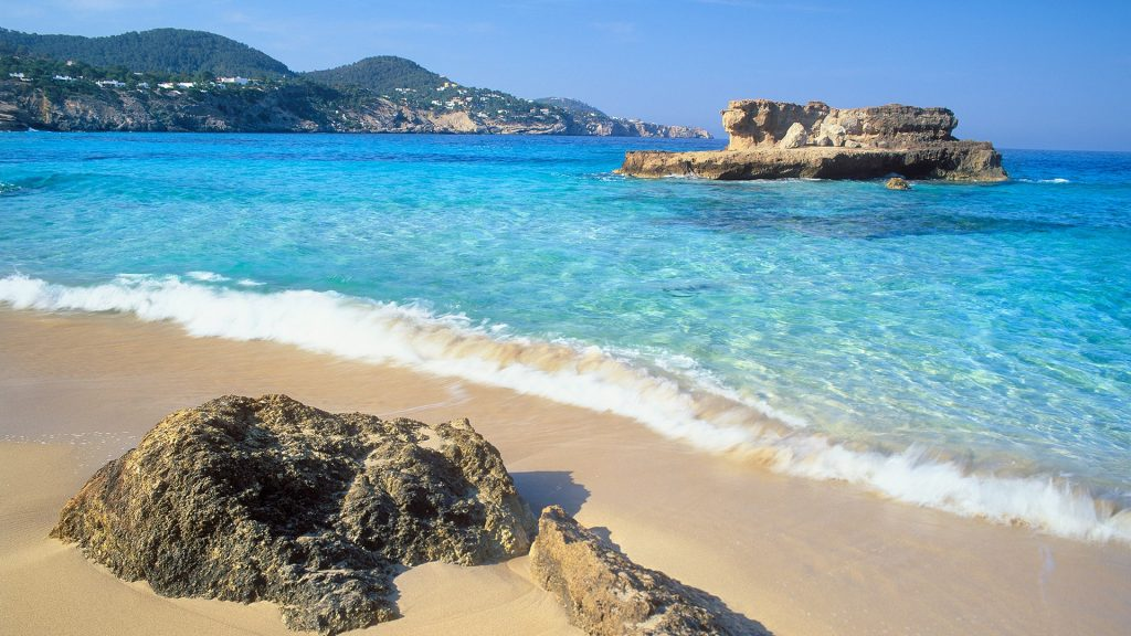 Cala Tarida Beach, Ibiza, Balearic islands, Spain