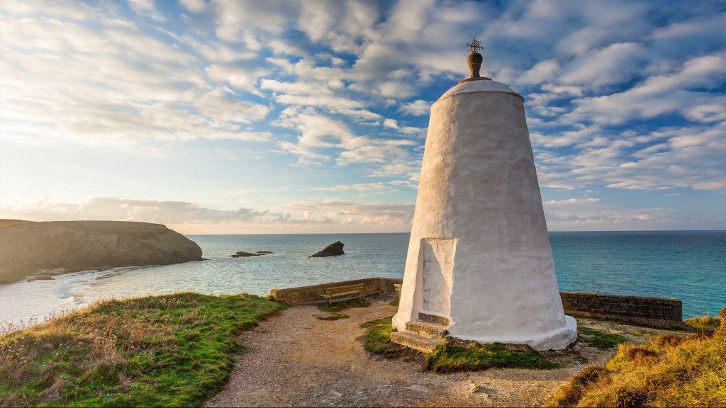 Pepperpot Daymark on Lighthouse Hill, Portreath, Cornwall, England, UK
