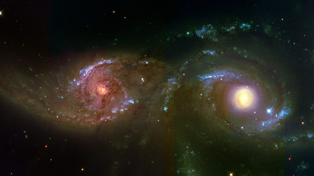 Interacting Galaxies NGC 2207 and IC 2163 in Canis Major