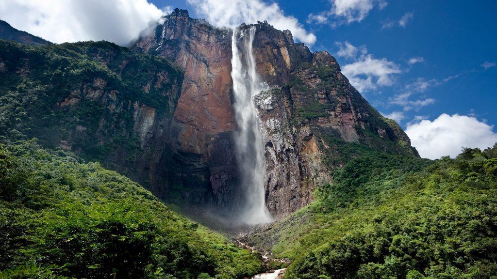 Angel Falls waterfall in Canaima National Park, Venezuela