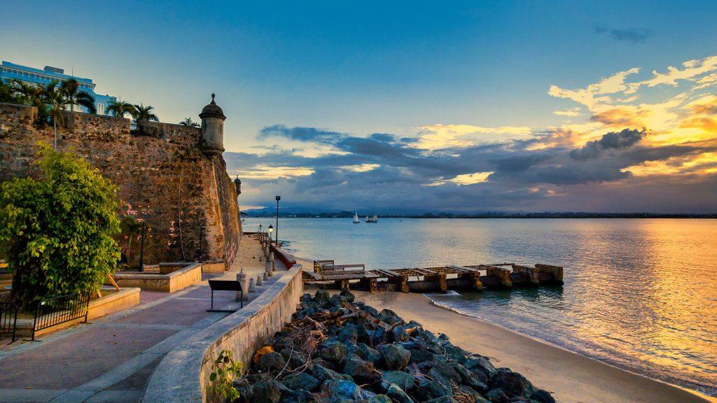 El Morro, Paseo de la Princesa, Old San Juan gate, Puerto Rico