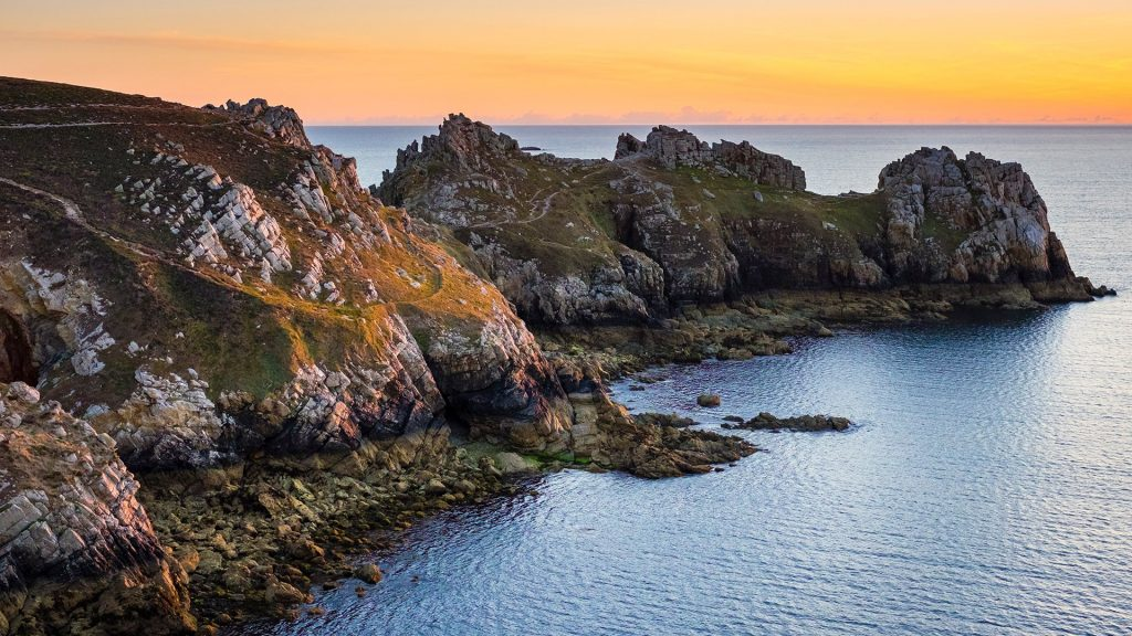 Sunset at Pointe de Dinan, Armorica Regional Natural Park, Crozon, Finistère, Brittany, France