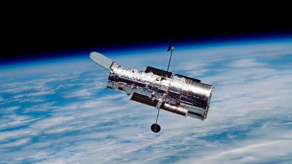 Hubble Space Telescope in orbit around Earth