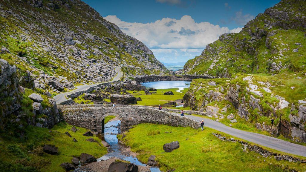 Scenic view of Gap of Dunloe, County Kerry, Ireland