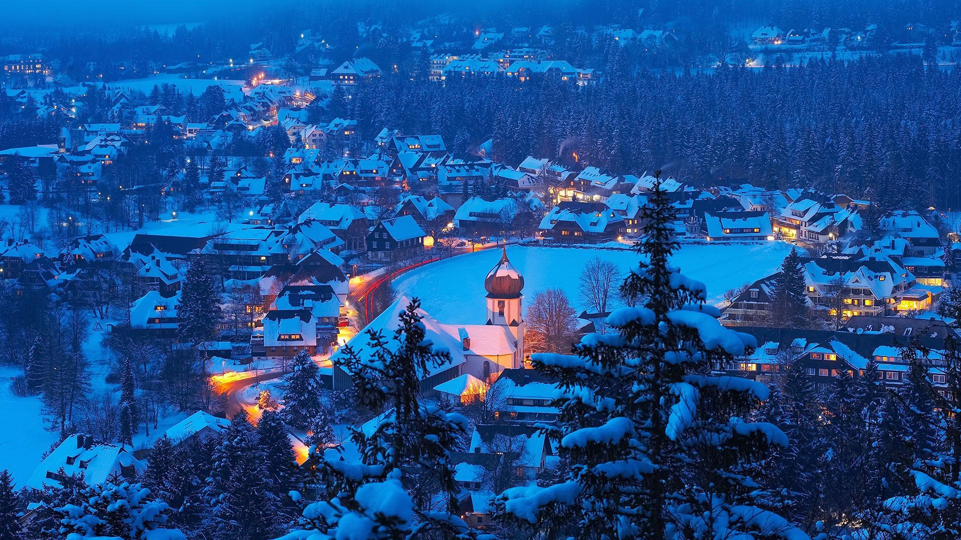 Winter In Hinterzarten Black Forest Schwarzwald Baden