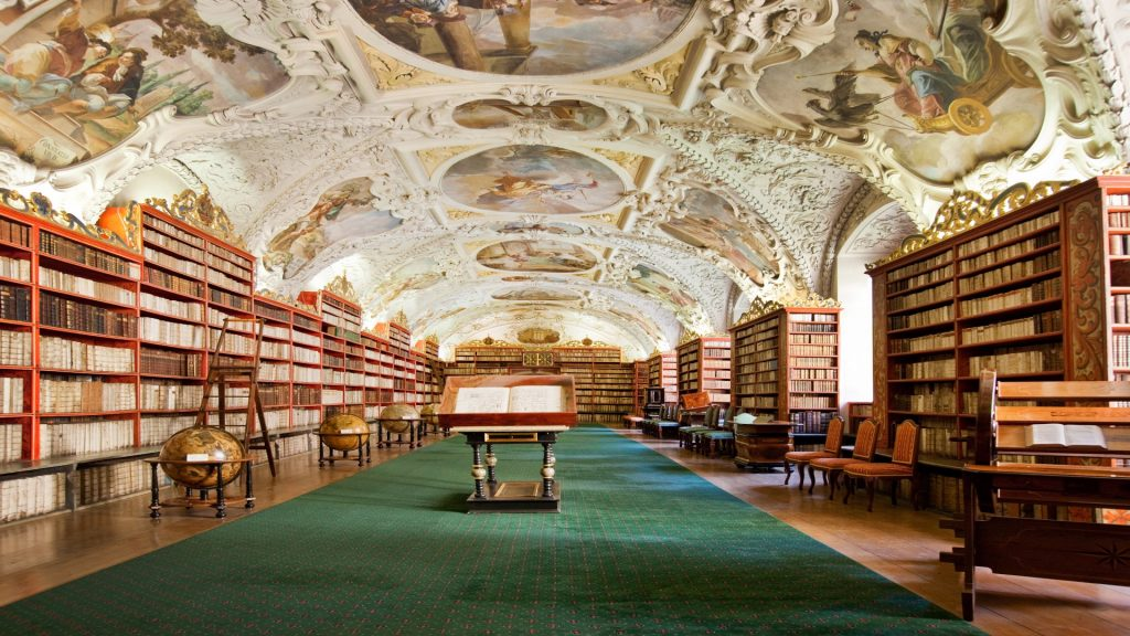 Theological Hall of Strahov Monastery Library, Prague, Czech Republic