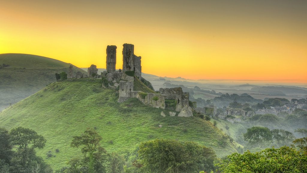 A countryside view near Corfe Castle, Isle of Purbeck, Dorset, England, UK