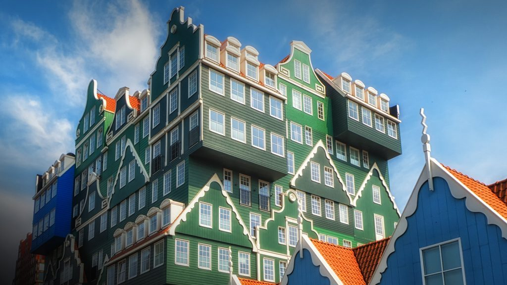 The Inntel hotel in the center of Zaandam, Zaanstad, Netherlands