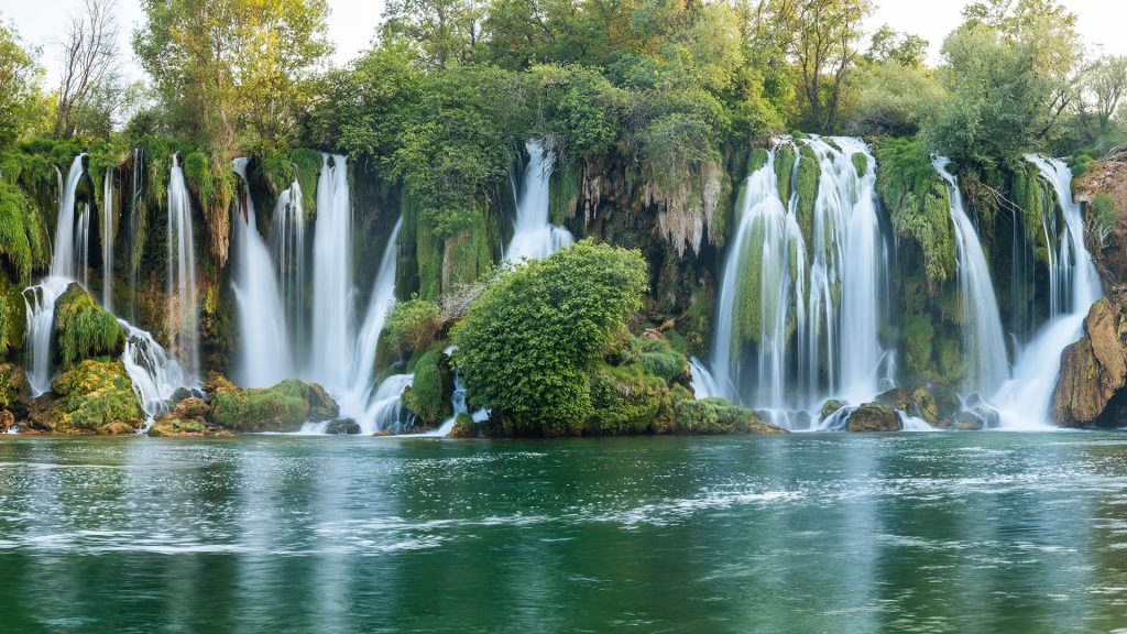 Kravica waterfall on the Trebižat River, Balkans, Bosnia and Herzegovina