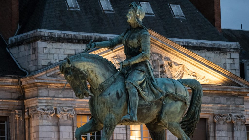 Statue of Joan of Arc on the Place du Martroi, Orléans, Loiret, France