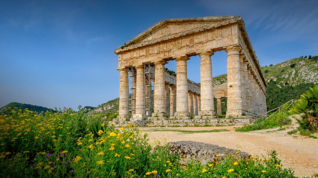 The Doric temple of Segesta dated 5th century BC, Trapani, Sicily, Italy
