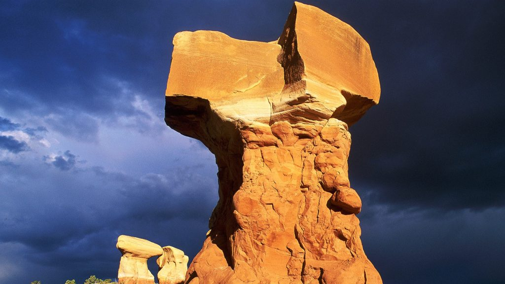Rock formation at Devil's Garden, Grand Staircase-Escalante National Monument, Utah, USA