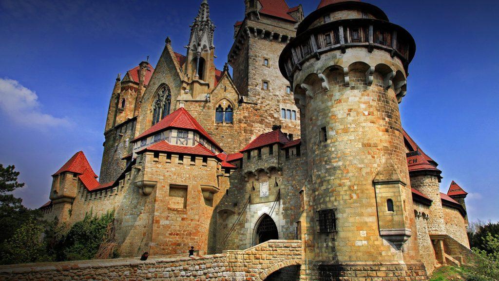 Burg Kreuzenstein castle near Leobendorf in Lower Austria, Austria
