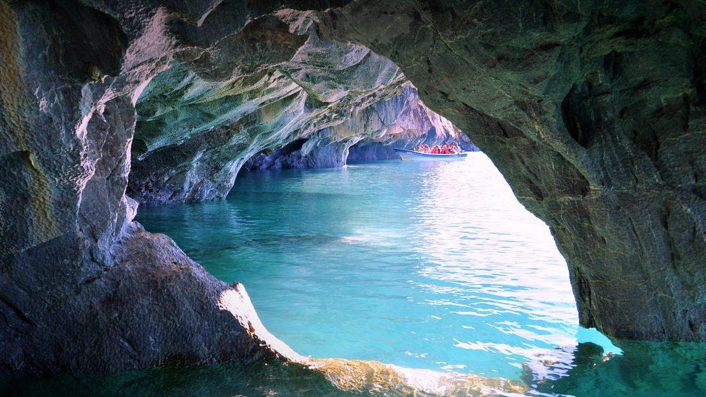 Marble Caves at General Carrera Lake, Patagonia, Chile