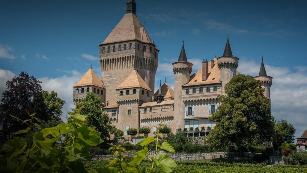 Medieval Vufflens Castle, Vufflens-le-Château, Switzerland
