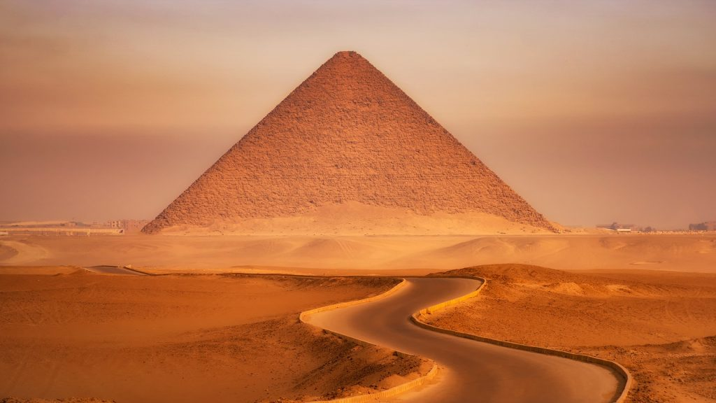 Red Pyramid of Dahshur, Cairo, Egypt