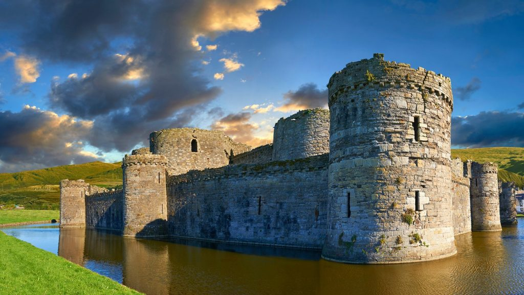 Beaumaris medieval Castle built 1295 by Edward 1st, Isle of Anglesey, Wales, UK