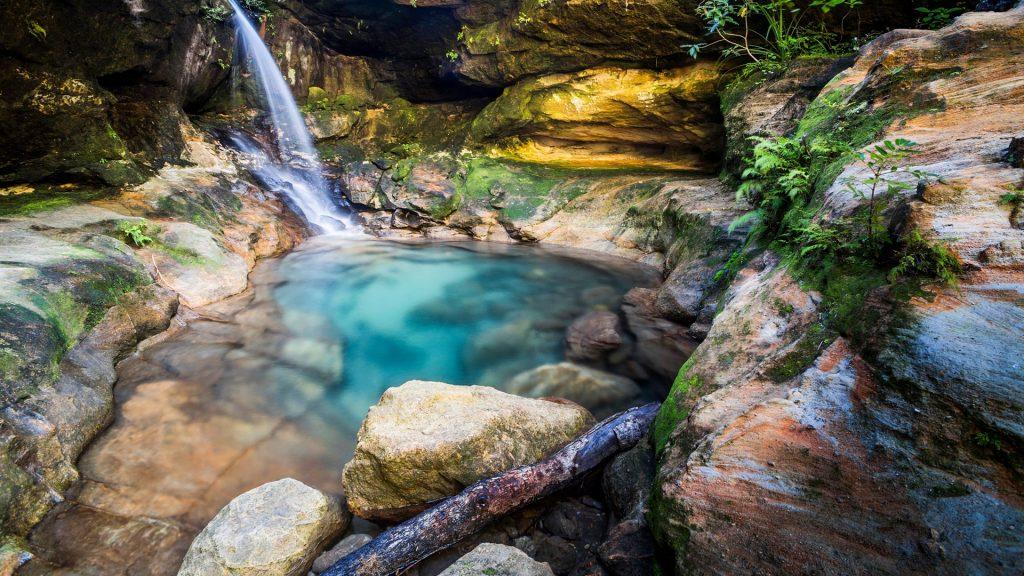 Waterfall in Isalo National Park, Ihorombe Region, Southwest Madagascar