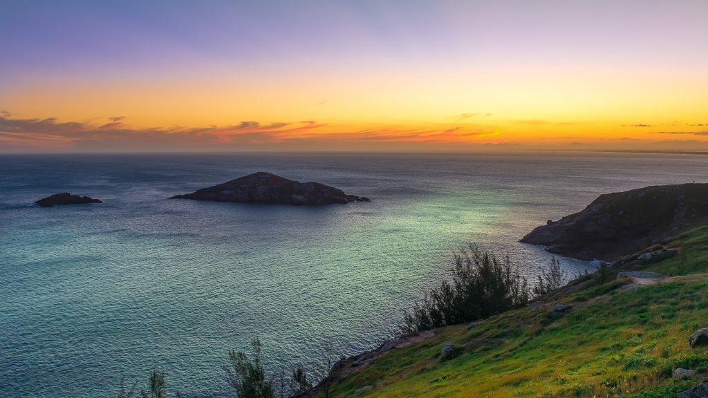 Sunset at beaches of Pontal do Atalaia, Arraial do Cabo, Rio de Janeiro, Brazil