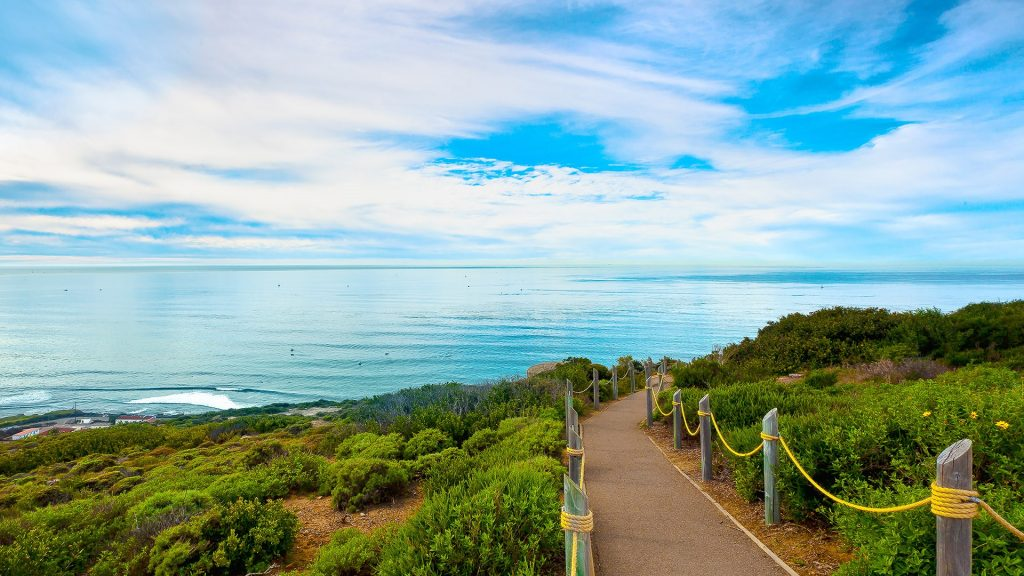 Hiking trail in Point Loma near Cabrillo National Monument, San Diego, California, USA