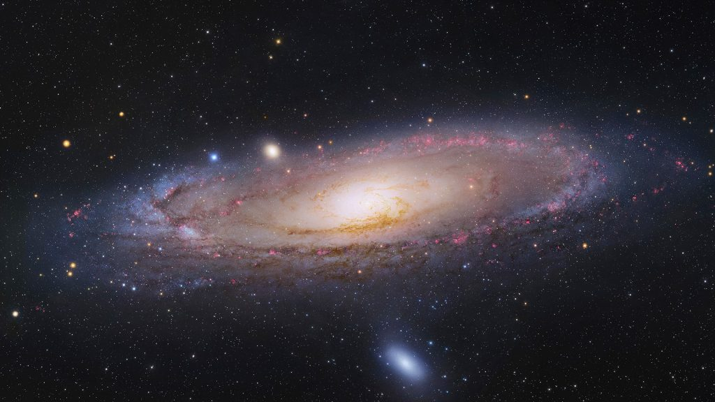 The Andromeda Galaxy (Messier 31 or NGC 224) in the constellation of Andromeda