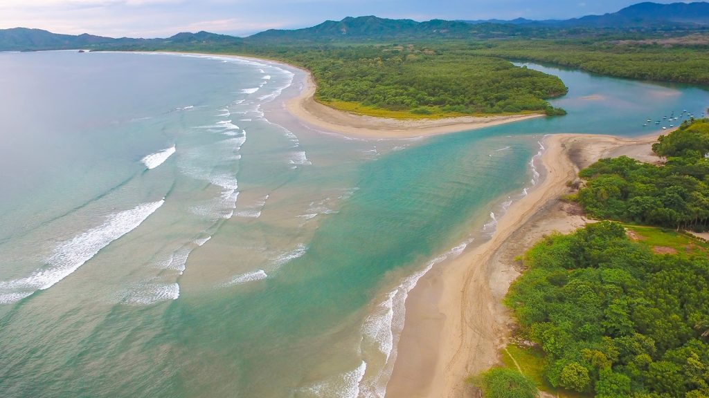 High angle view of Tamarindo Wildlife Refuge, Guanacaste, Costa Rica
