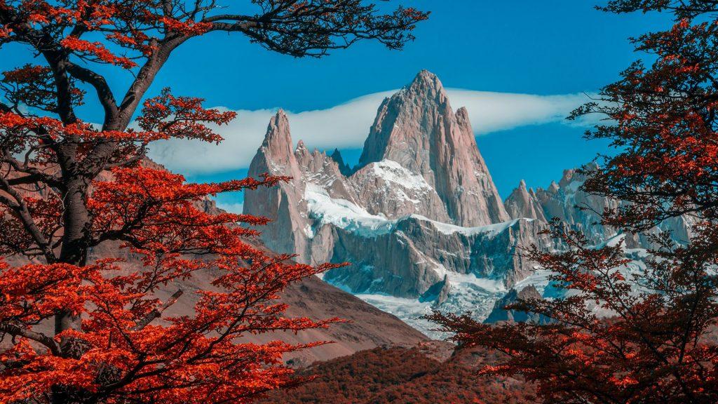 Mount Fitz Roy in Los Glaciares National Park, El Chalten, Argentina, Patagonia