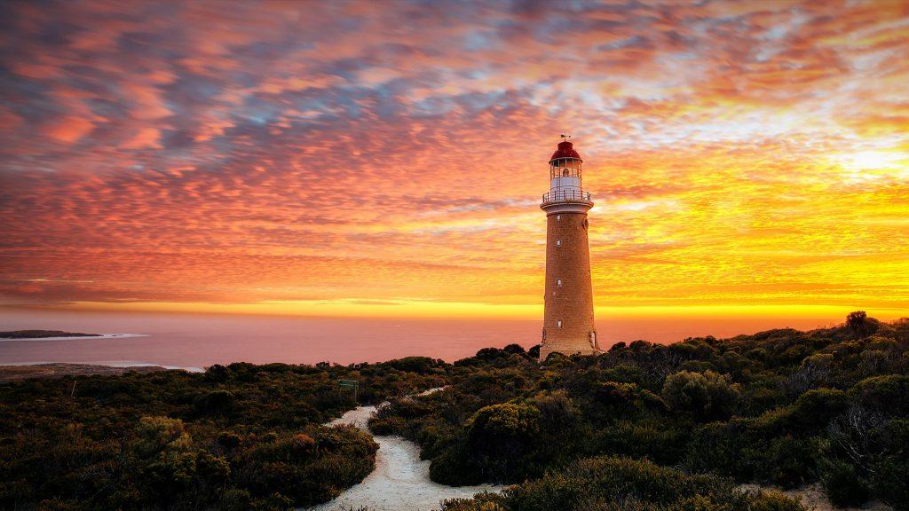 Cape Du Couedic Lighthouse at sunset, Kangaroo Island, South Australia