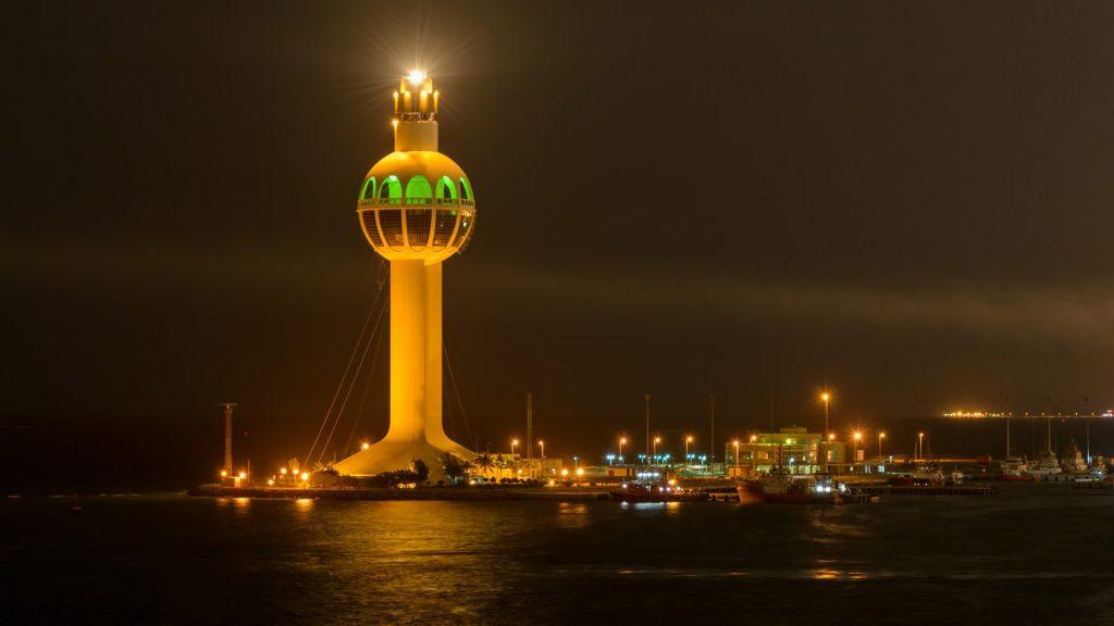 Jeddah Light (Jeddah Port Control Tower) lighthouse in Jeddah, Saudi Arabia