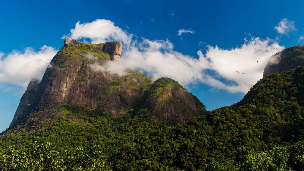 Pedra da Gávea monolithic mountain, Tijuca National Park, Rio de Janeiro, Brazil