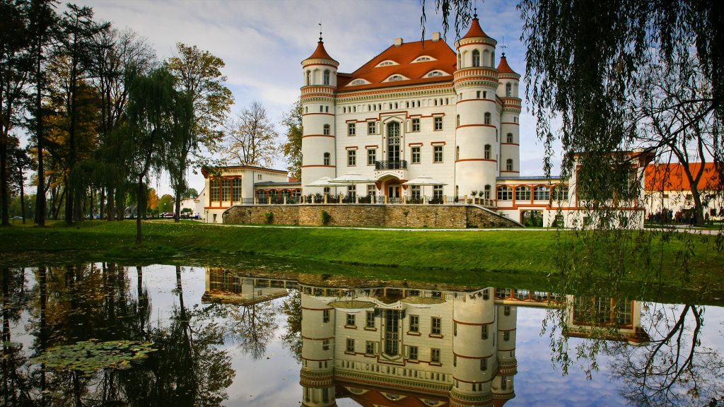 Fairytale Palace in Wojanów, Lower Silesia, Poland