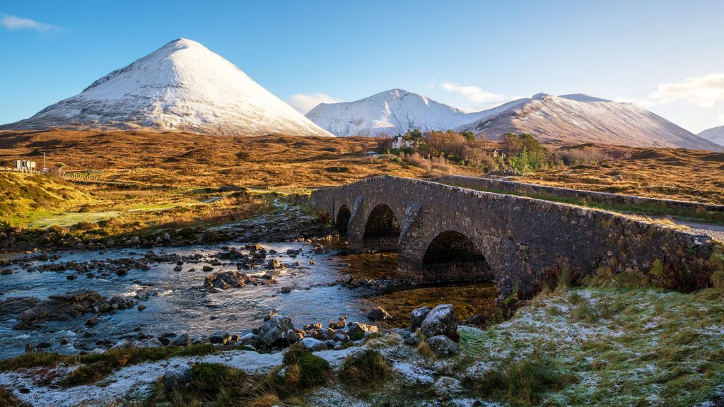 Sligachan bridge, Isle of Skye, Highland, Scotland, UK