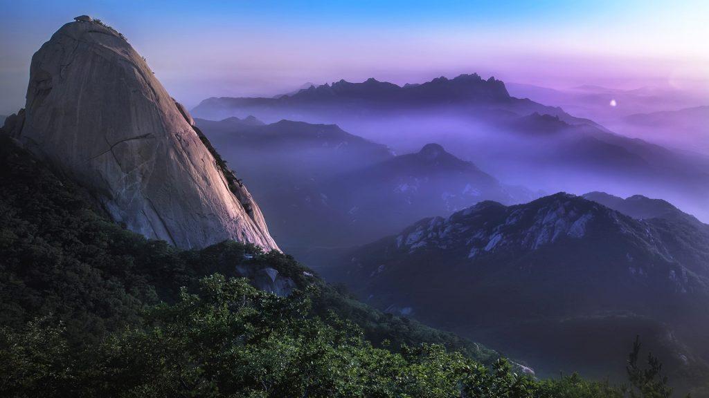 Bukhansan national park mountain, Seoul, South Korea