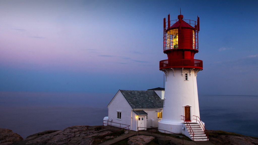 Lindesnes Lighthouse at the southernmost tip of Norway
